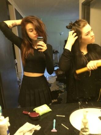 skirt acacia brinley black blouse