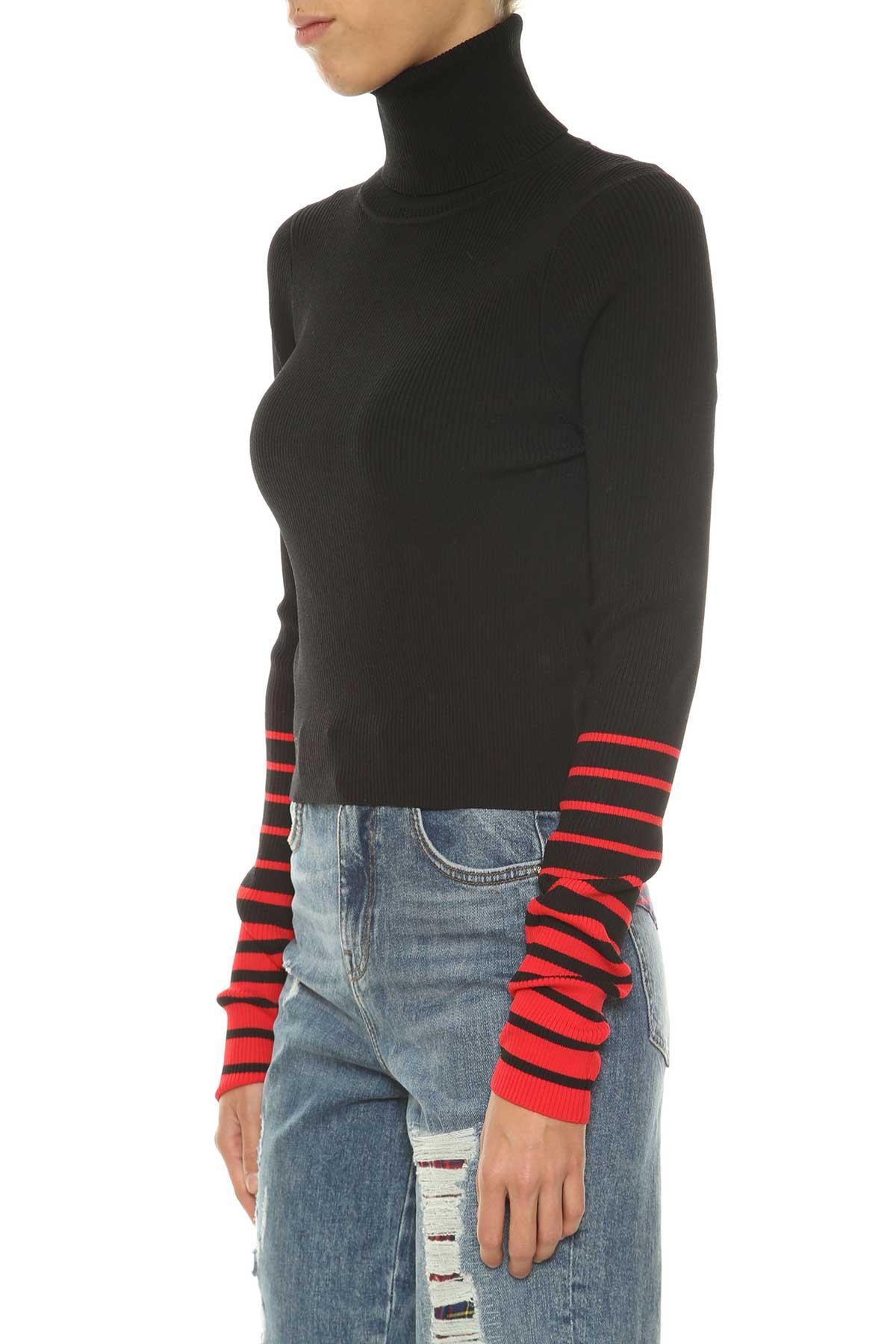 Best price on the market: Tommy Hilfiger Tommy Hilfiger Crop Rib High Neck Sweatshirt