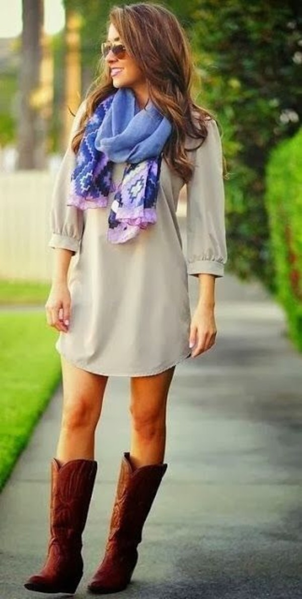 scarf dress shoes boots light brown dress taupe dress fall outfits spring beige dress tan dress