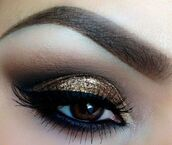 jewels,make-up,eye shadow,gold,gold eyeshadow,party,glitter eye shadow,party make up