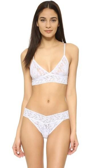 bra soft lace white underwear