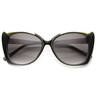 sunglasses metal metal frames metal frame sunglasses black black sunglasses black and gold black and gold sunglasses cat eye