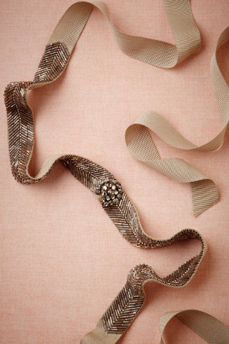 Projected luminescence sash in  shoes & accessories belts & sashes at bhldn