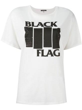 t-shirt shirt black white top
