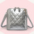Shining Diamond Check Crossbody Bag in Silver [DLN0010] - PersunMall.com