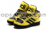 Adidas OBYO Big Tongue High Tops Yellow Black for men and women