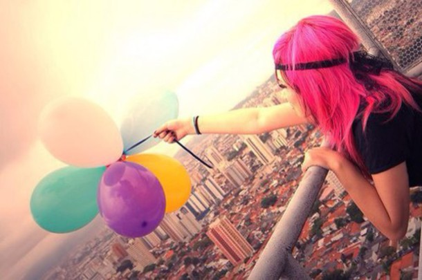 hair accessory pop hairstyles bright pink scenery print style hair dye neon pink