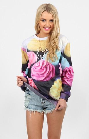 R.I.P. Diet Cupcakes Print Sweater – Glamzelle