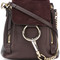 Chloé - mini faye backpack - women - cotton/calf leather - one size, brown, cotton/calf leather