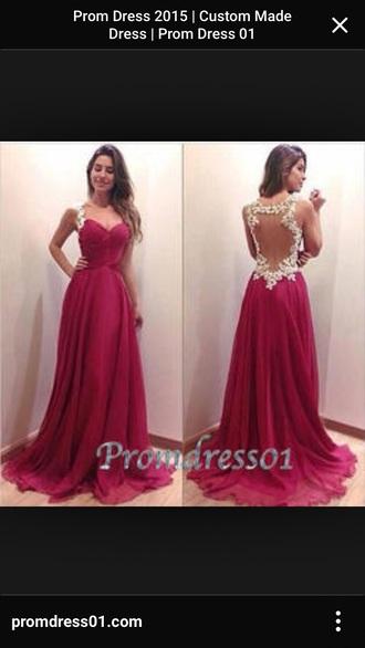 dress open back dress. red prom dress