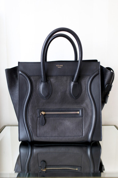 celine bag classic bag black purse black leather purse