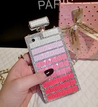 phone cover iphone luxury diamonds bling perfume bottle