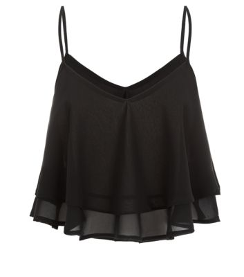 Black Double Layer Swing Cami