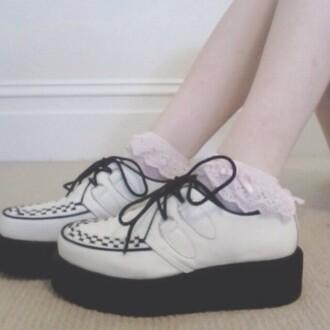shoes vintage old pretty platform shoes
