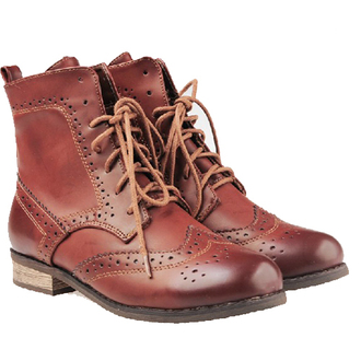 shoes boots lace up hollow out flat