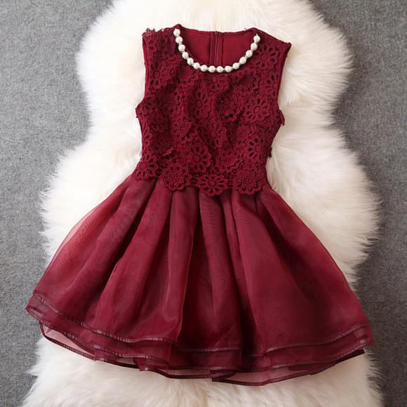 burgundy pearls floral burgundy dress dress