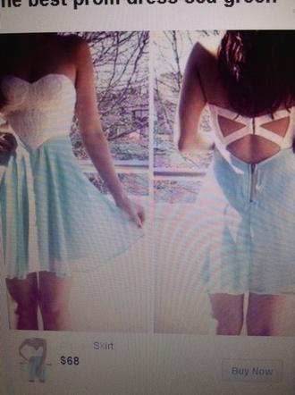 dress turquoise dress strapless dress prom dress short prom dress