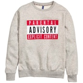 sweater,parental advisory explicit content,jeans,shirt