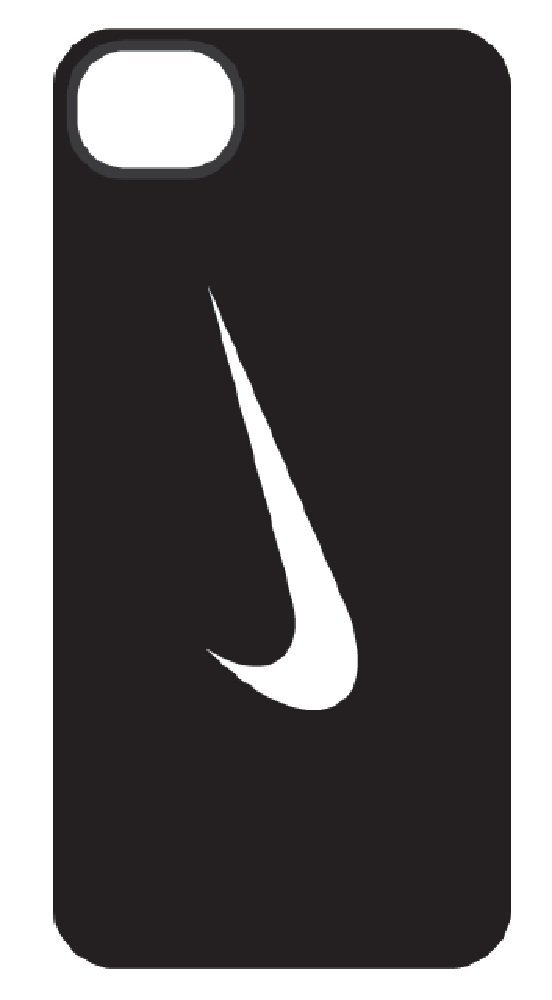 new concept f18ee fe946 Amazon.com: NIKE SWOOSH HARD PHONE CASE (iPhone 5, BLACK/WHITE): Cell  Phones & Accessories