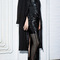 Double face wool crepe cocoon coat with rabbit collar by sally lapointe | moda operandi
