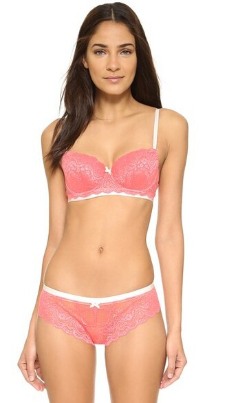 bra retro coral cream underwear