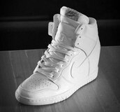 shoes,nike air force 1,wedge sneakers,white sneakers,nike