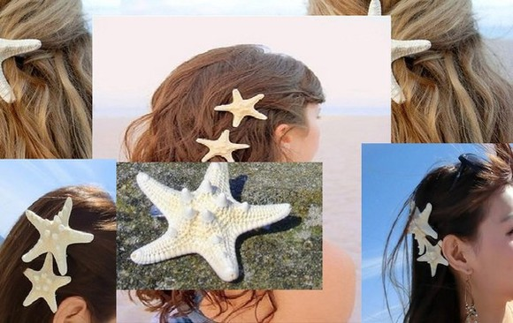 hair clip hair accessories star beatch beauty hair jewelry beauty hair hair star hair cling star cling hair jewelry summer outfits beauty clip hairstyles