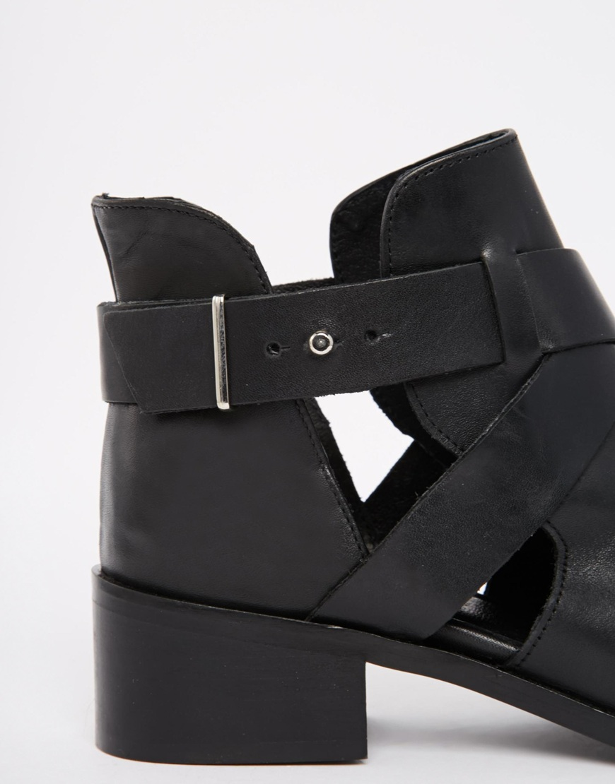 Carvela Simple Cut Out Buckle Ankle Boots at asos.com