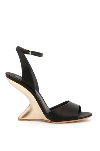 heel sandals satin shoes