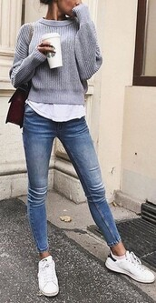 sweater,pull gris