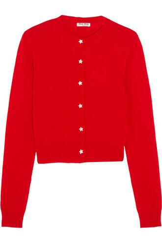 cardigan red sweater