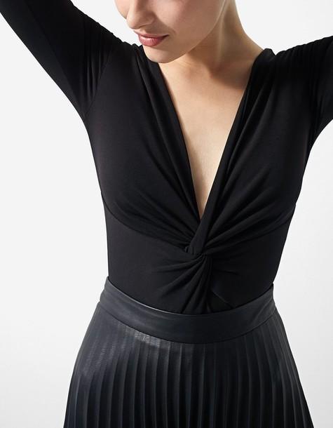Stradivarius bodysuit draped black underwear
