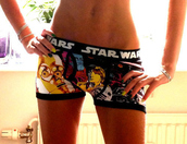 star wars,geek,underwear,boxers,girl,boxer briefs,girl boxer,boxer short,brief bottom,cute,nerd alert,shorts,boyshorts