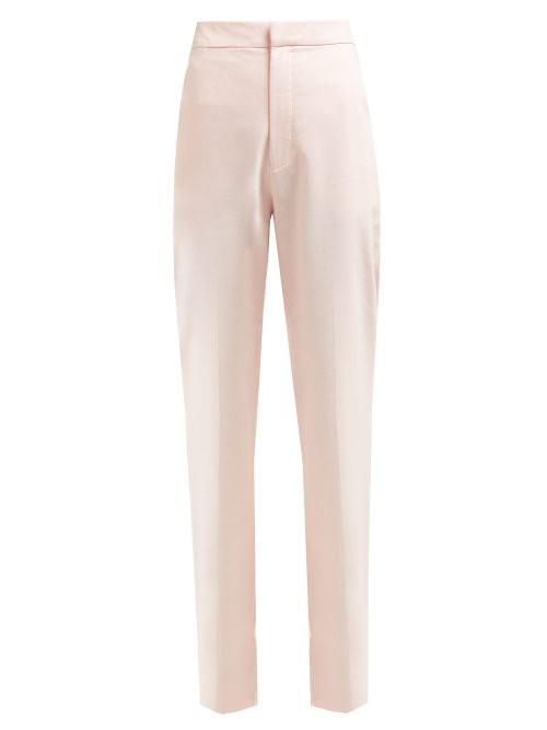 Buy motel jodie cropped skinny jean in pink palm leaf print at motel rocks