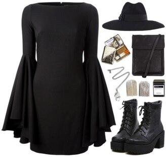 dress black hat american horror story shoes boots