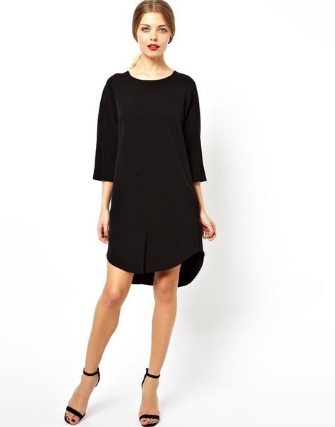 d20bc3977e5a black dress casual dress casual strappy heels black heels rihanna heels  bohemian dress loose dress asos