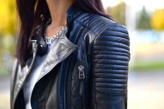 jacket clothes biker jacket zara black zipper jacket padded shoulders padded jacket padded biker