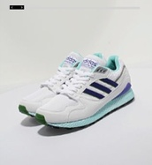 shoes,adidas,adidas shoes,sneakers,trainers,mint,blue,purple,white,dark blue,navy
