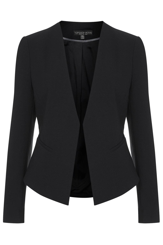 Fit curved blazer