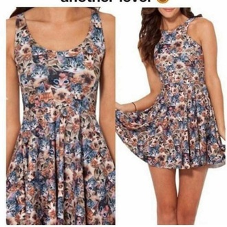 dress skater dress high neck the color cat printed cat face forever 21 h and m short dress