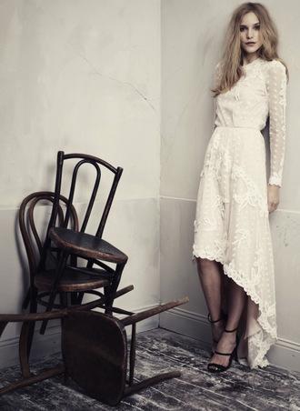 dress boho dress boho lace dress wedding princess h m conscious collection