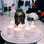 bag,buddha,statue,candle,home decor,home accessory