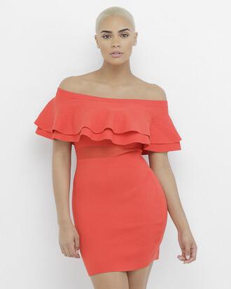 dress red dress strapless strapless dress ruffle