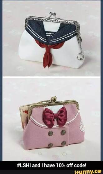 bag purse pink kawaii anime sailor bows sailor moon