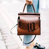 bag,tumblr,brown bag,handbag,minimalist bag,satchel bag,leather,brown leather bag,brown leather,fall accessories,office outfits
