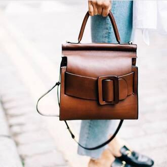 bag tumblr brown bag handbag minimalist bag satchel bag leather brown leather bag brown leather fall accessories office outfits