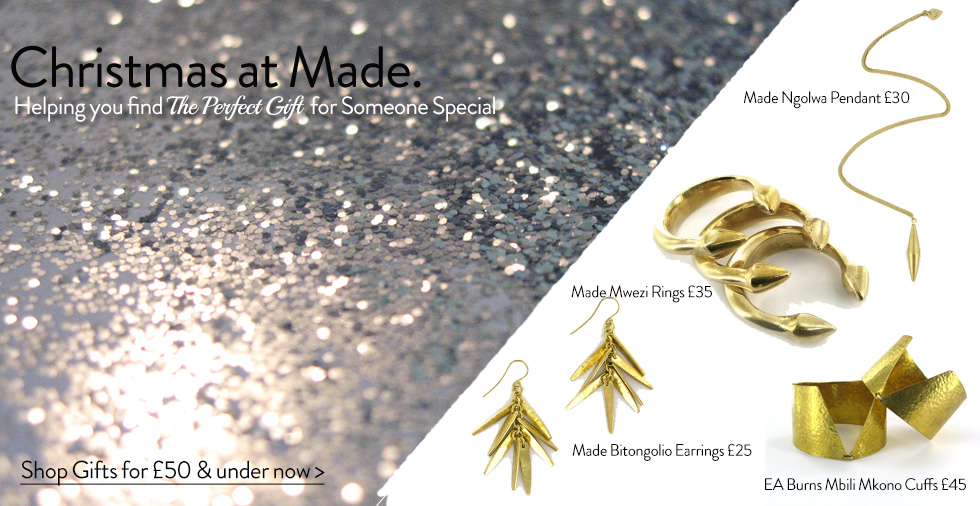 MADE - unique fair trade jewellery including necklaces, earrings and bracelets Made UK