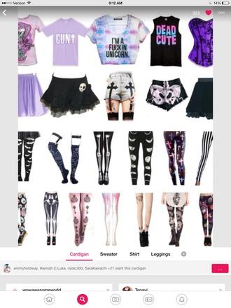 shorts cross pastel goth
