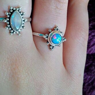 jewels shop dixi boho sterling silver rings opal