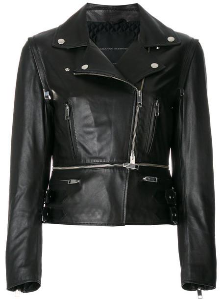 Ermanno Scervino jacket sleeveless fur fox women black